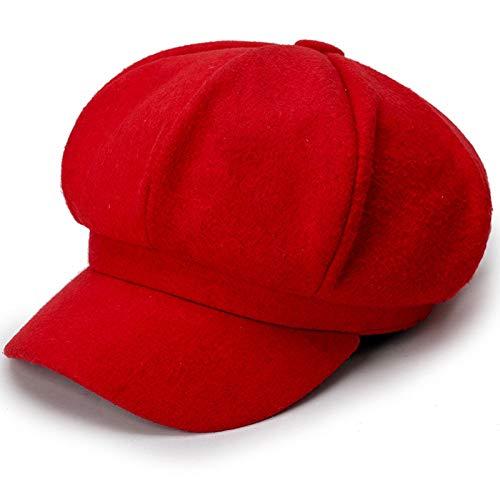 ERQINGBM Barett Damenmütze Baretthut Neuheiten Achteckige Hüte Für Frauen Mode Cord Vintage Herbst Winter Newsboy Caps Cord-vintage Cap