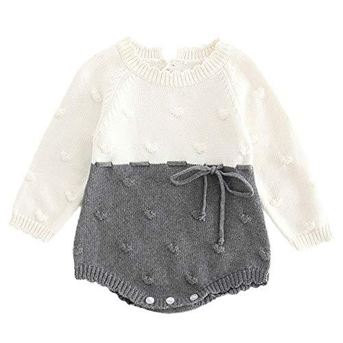 BeautyTop Unisex Strampler Baby Mädchen Jungen Overalls Warm Strampelanzug Baumwolle Kinderkleidung Kleidungsset für Winter Herbst 0-12 Monate Kootk