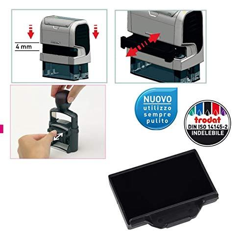 TRODAT Cartucce Datario autoinchiostrante Professional Trodat - per timbro 5440 - nero - 1524 (conf. 3)
