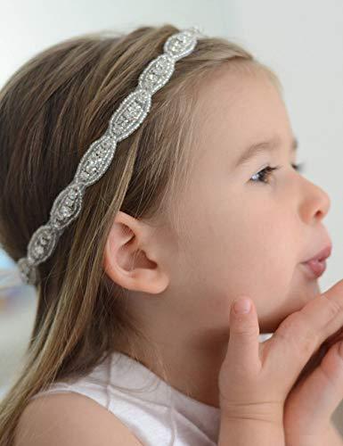 Starcrossed Beauty K96Haarband deniferymakeup Flower Girl Rhinestone weddingh Haarband Haar schmuck Hochzeit Haarband Mädchen Geschenk Taufe Kopfband Haar Zubehör