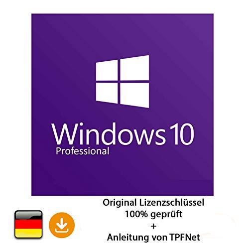 Microsoft® Windows 10 Pro 32 bit & 64 bit Vollversion Original Lizenzschlüssel per Post und E-Mail + Anleitung von TPFNet® - Versand maximal 60Min