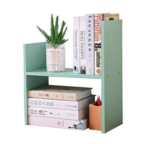 JANFA Ripiani Scaffale da Tavolino Scaffale A Forma di H Libreria da Appoggio Forniture per Ufficio Espositore per Libri Uso dello Studente Uso Ufficio (Colore : Fresh Green)