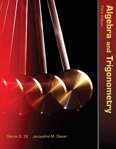 Algebra And Trigonometry (Jones & Bartlett Learning Series in Mathematics)
