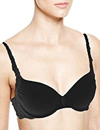 B.New Ex M/&S Luxury Embroidered Non-Padded Wired Full Cup Bra Sizes 40 DD-H