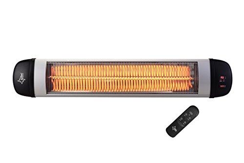 SUNTEC Carbon-Heizstrahler Heat Ray Carbon 3000 Outdoor [Für Räume bis 60 m³ (~25 m²), Indoor & Outdoor geeignet, 3 Heizstufen, Timer, Wandmontage, 3000 Watt]