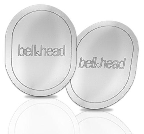 2er Set Metallplättchen mit Klebefläche OVAL für KFZ Magnet-Handy-Halterung - Zusatz-Set oder Ersatz für Original Platten von bell & head oder anderen Anbietern (4 x 5 cm)