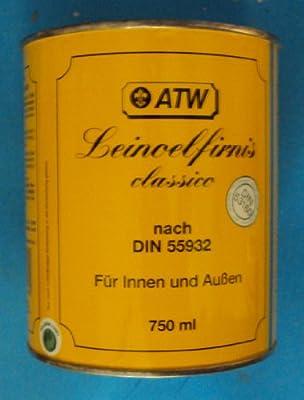 (13,32EUR/L) 750 ml ATW Leinölfirnis classico nach Din 55932, für Innen u. Außen (13,32€/l) von ATW GmbH - TapetenShop