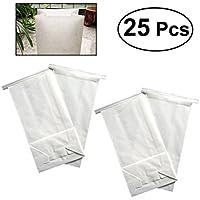 ULTNICE 25pcs desechables Barf bolsas de viaje bolsas de vómito (blanco)