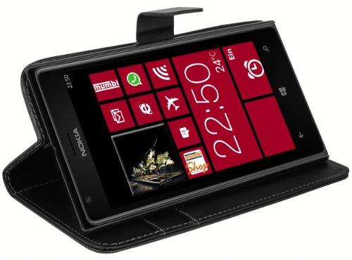 mumbi Tasche im Bookstyle für Nokia Lumia 1520 Tasche schwarz