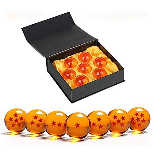 MuZhuo Dragon Ball Dragon Ball, 7-teiliges Spielzeugspiel Crystal Ball Dragon Ball z Dragon Ball von 1 bis 7 Sternen mit Geschenkbox, Geschenk für Kinder/zarte ()
