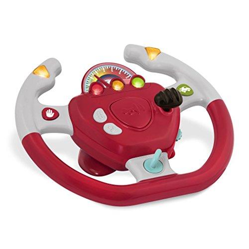 Battat - Geared to Steer - Interaktives Lenkrad Spielzeug auch für Unterwegs und Autofahrten mit Lichtern und Geräuschen für Kinder ab 2 Jahren