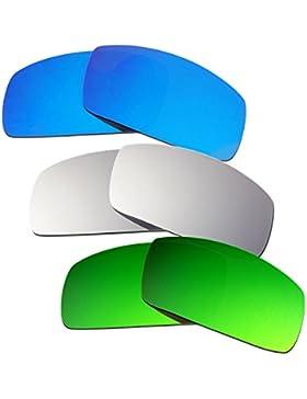 Hkuco Plus Mens Replacement Lenses For Oakley Canteen (2006) Blue/Titanium/Emerald Green Sunglasses