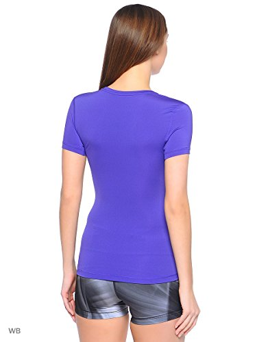 Nike Damen Oberbekleidung Pro Cool Shortsleeve Top violett - schwarz