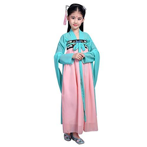 Yudesun Mädchen Prinzessin Chinesisch Hanfu - Niedlich Antike Königlich Robe Kinder Tag Aktivitäten Kleid Bis Cosplay Party Retro Folk Kostüm