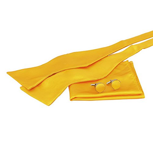 BT1021 Fantastische Zubehör Gold Feststoffe Seide Self Fliegen Taschentuch Manschettenknöpfe Shopstyle Geschenke Idee für Herren Geschenk von Epoint (Herren Trachten Australien)