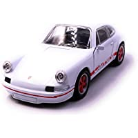 Onlineworld2013 Porsche Carrera RS Modelo de Auto Deportivo Auto Auto Escala Blanca roja 1:34