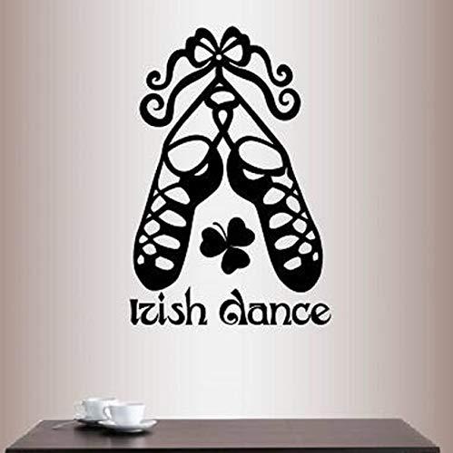 Dalxsh Irish Dance Words Zeichen Schuhe Dekoration Wandtattoos Schlafzimmer Kunst Dekor Vinyl Abnehmbare Wandaufkleber Für Wohnzimmer 38X57 Cm (Halloween Irish Dance)