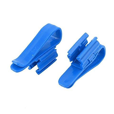 sourcingmap® Plastique Aquarium Mont Tuyau Support À Boyau 2 Pièces Bleu