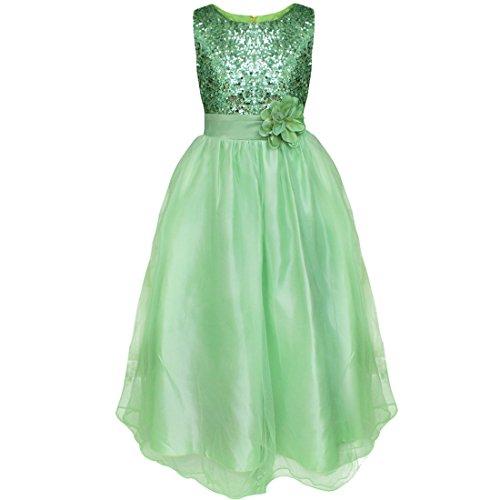 iiniim Kinder Mädchen Kleid Langes Festlich Kleid Blumenmädchenkleid Hochzeit Partykleid...