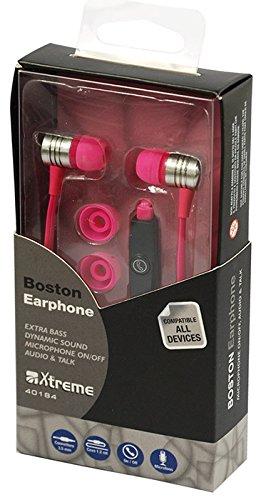 Xtreme 40184F Auricolare Audio & Talk Boston, Connettore Jack 3,5 mm, 1,2 mt con Microfono