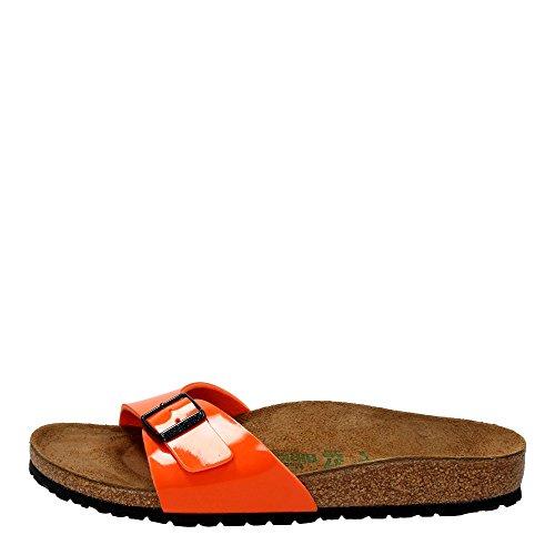 Birkenstock Madrid 40403, Unisex - Erwachsene Clogs & Pantoletten aus Birko-Flor Orange