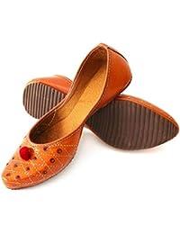 DKN Industries Presents Designer Jaipuri Faux Leather Jutti Rajasthani Mojari for Women and Girls Pack of 1