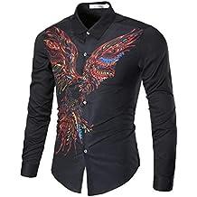 Qiusa XXXL Hemden Männer Langarm Top Casual Slim Fit, Plain 3D Afrikanischen  Muster Personalisierte Manschettenknopf f904ef694c