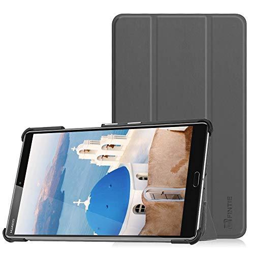 Fintie Hülle Case für Huawei Mediapad M5 8 Tablet - Ultra Dünn Superleicht SlimShell Ständer Case Cover Schutzhülle Auto Sleep/Wake Funktion für Huawei MediaPad M5 21,34 cm (8,4 Zoll), Space Grau