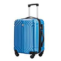 Flymax 55x35x20 Super Lightweight Abs Hard Shell Travel Carry on Board Cabin Approved Hand Luggage with 4 Wheels Fits Easyjet, Ryanair, British Airways & Jet 2 56x45x30