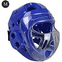 XISTORE Headgear - Casco Integral de protección para la Cabeza de los Hombres y Las Mujeres, Color Azul, tamaño Large