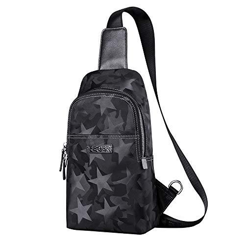 FTM Sling Bag Chest Épaule Sacs Cross-Body Compact Minuscule pour Homme