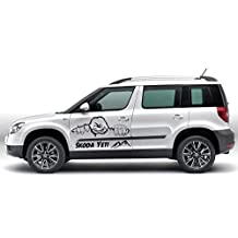 Desconocido SKODA YETI ADVENTURE Monster Kit pegatinas set de pegatinas tatuaje Lámina - blanco mate