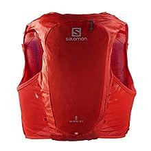 SALOMON ADV Hydra Vest 8, Gilet di Idratazione, 2 Borracce SoftFlask da 500 ml Incluse Unisex-Adulto, Rosso, XS