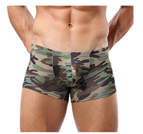 Männer Weiße Unterwäsche, (Herren Boxershorts,Beikoard Männer Sexy Militärische Tarnung Boxers Slips Camouflage Unterwäsche Shorts Trunks Boxers Briefs Unterhose Soft Retroshorts Unterhosen (M, Camouflage))