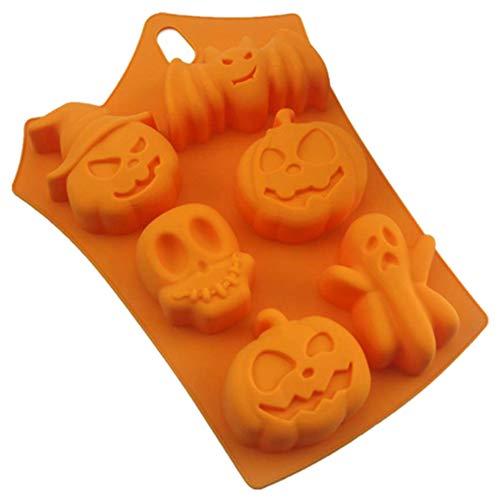 Markcur Silikon Kürbis Halloween Ghost Festival 6 Loch Bat Backform handmade Soap Mold Seife Form