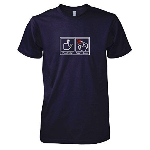 TEXLAB - Push Button Receive Bacon - Herren T-Shirt, Größe L, navy