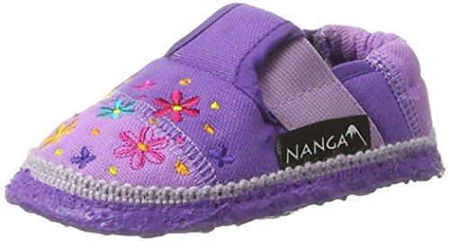 Nanga Blümchen, chaussons d'intérieur fille Violett (dunkellila)