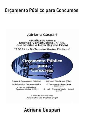 Orçamento Público Para Concursos (Portuguese Edition)
