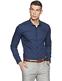 US Polo Association Men's Printed Slim Fit Cotton Formal Shirt