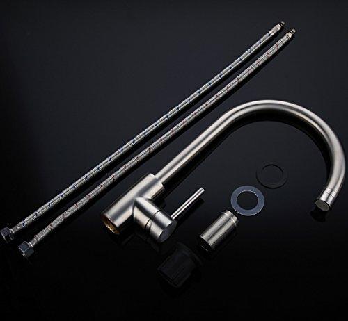 Homelody – Küchenarmatur mit unterschiedlicher Brausefunktion, 360° schwenkbar, Chrom - 7