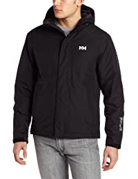 Helly Hansen SEVEN J LIGHT INSULATED JACKET - Chaqueta impermeable para hombre, color negro, talla L