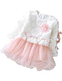 Automne Et Hiver Robe à Manches Longues Princesse Gaze Jupe 6-24 mois---HUI.HUI Fille VêTements,Ensembles Chemisiers Tops Robes…