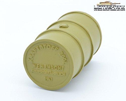 Benzinfass Fass 200 Liter Wehrmacht Wüste licmas-tank 1:16