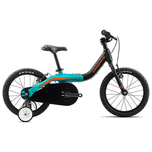 ORBEA Grow 1 Kinder Fahrrad 16 Zoll 1 Gang Kids Aluminium Jungen Mädchen Kleinkind Jugend Bike, J00216K, Farbe Schwarz Türkis
