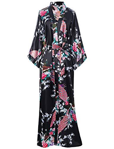BABEYOND Kimono Seda Vestido Satén Kimono