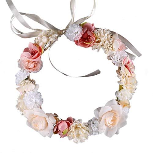 men-Stirnband Jäten Blumen Armband Handgemachte künstliche Haarband Haare Zubehör für Frauen Mädchen Lady ()