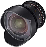 Rokinon Cine DS DS14M-NEX 14mm T3.1 ED AS IF UMC Full Frame Cine Wide Angle Lens for Sony E