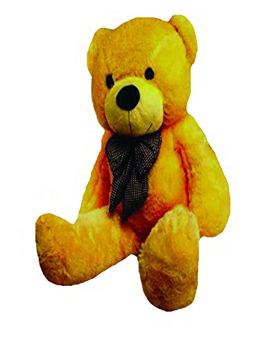 CLICK4DEAL Large Very Soft 4 Feet Lovable/Huggable/Fluffy/Spongy Giant Teddy Bear with Neck Bow for Girlfriend/Birthday Gift/Boy/Girl/Valentine/Anniversary (122 cm,Brown)