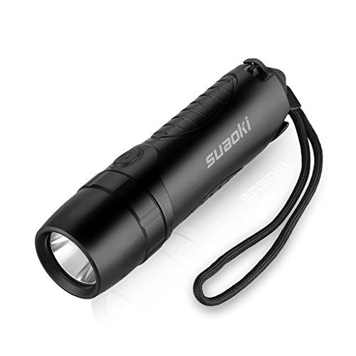 Suaoki TC7 5200mAh Linterna LED Recargable Impermeable IPX6 (Cargador Batería Externa Martillo de Emergencia Cortador cinturón seguridad Carga USB)