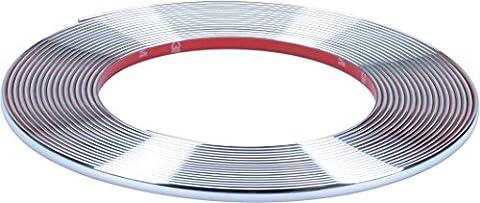 hr-imotion selbstklebende Chrom-Zierleiste - 1000cm x 7mm [3M Material | Zuschneidbar | Witterungsbeständig | Hochflexibel] - 12010301